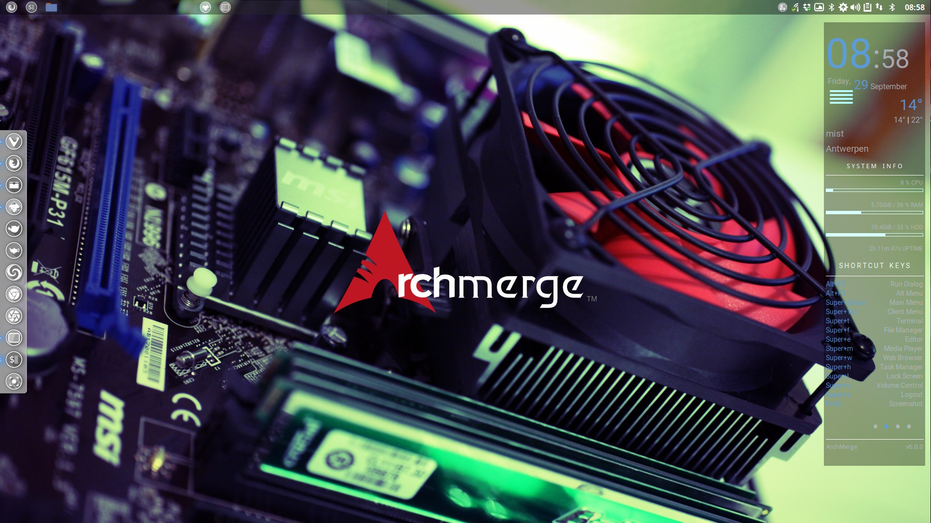 How to change the color of the ArchMerge logo