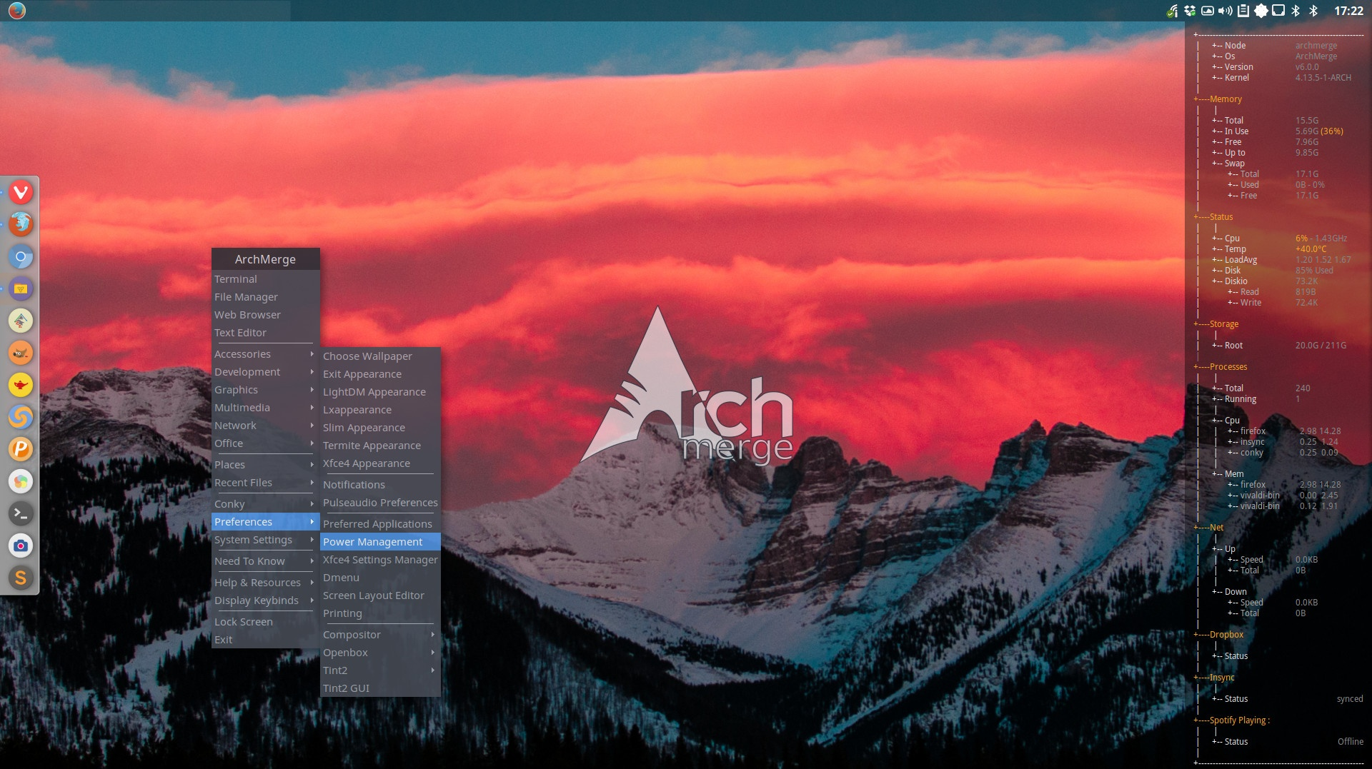 How to make a static and manual menu in openbox
