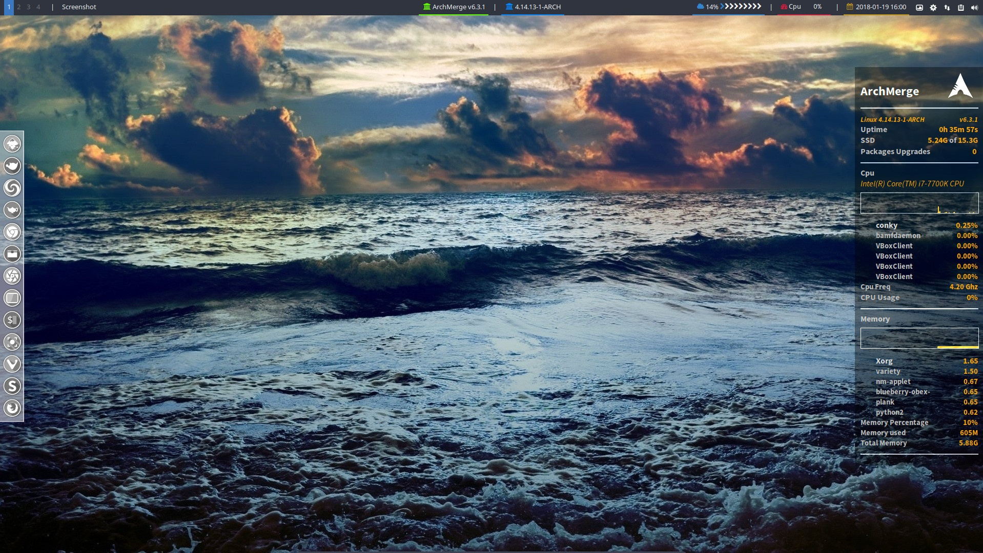 How to activate polybar on ArcoLinux Openbox