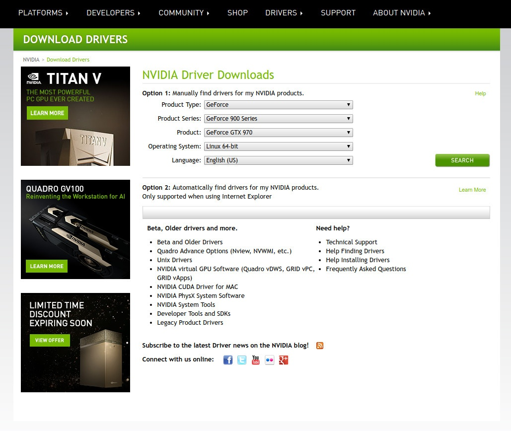 How to find out what driver to install for your Nvidia card – April 2018