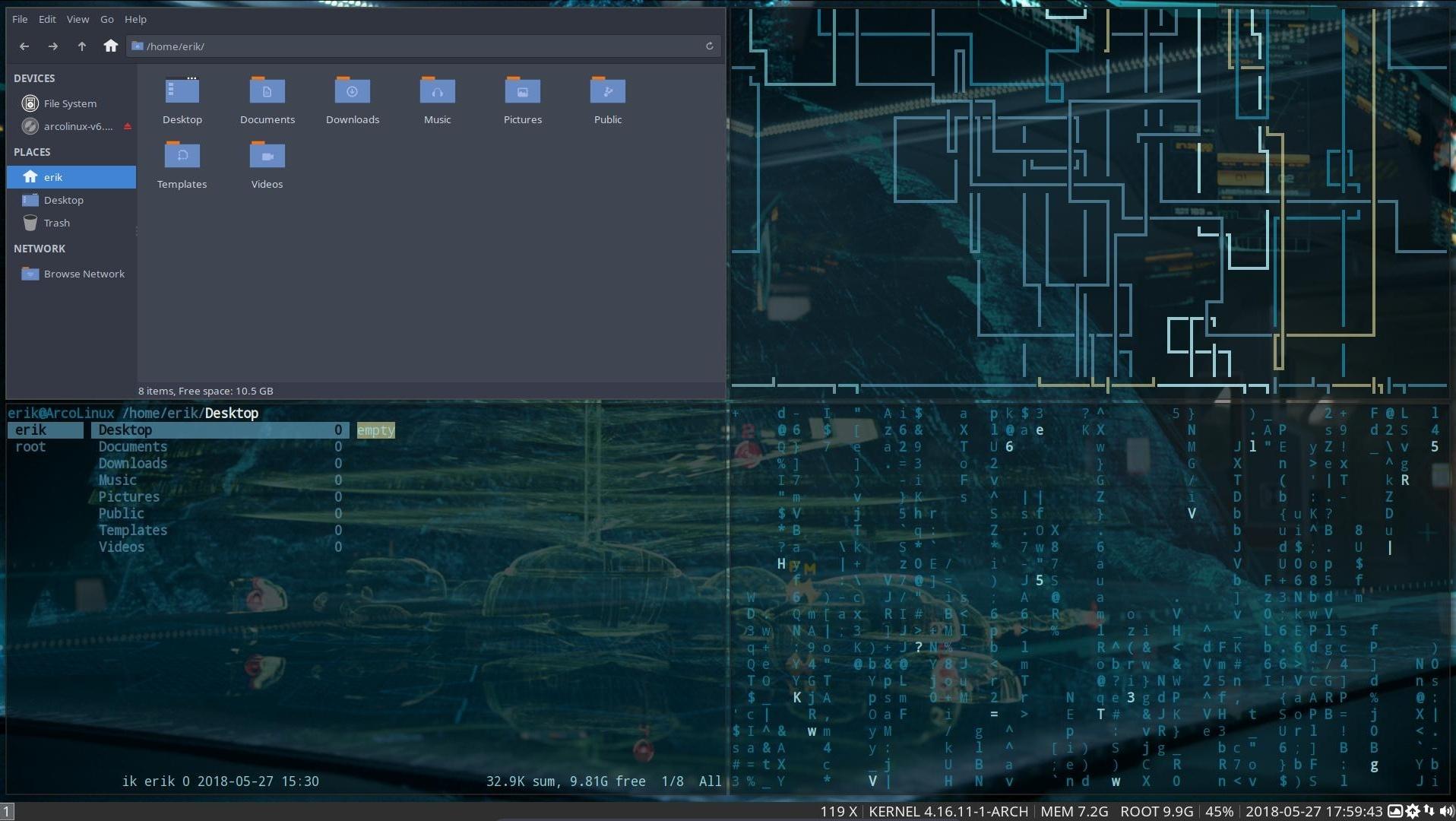 Using python-pywal to make awesome screenshots