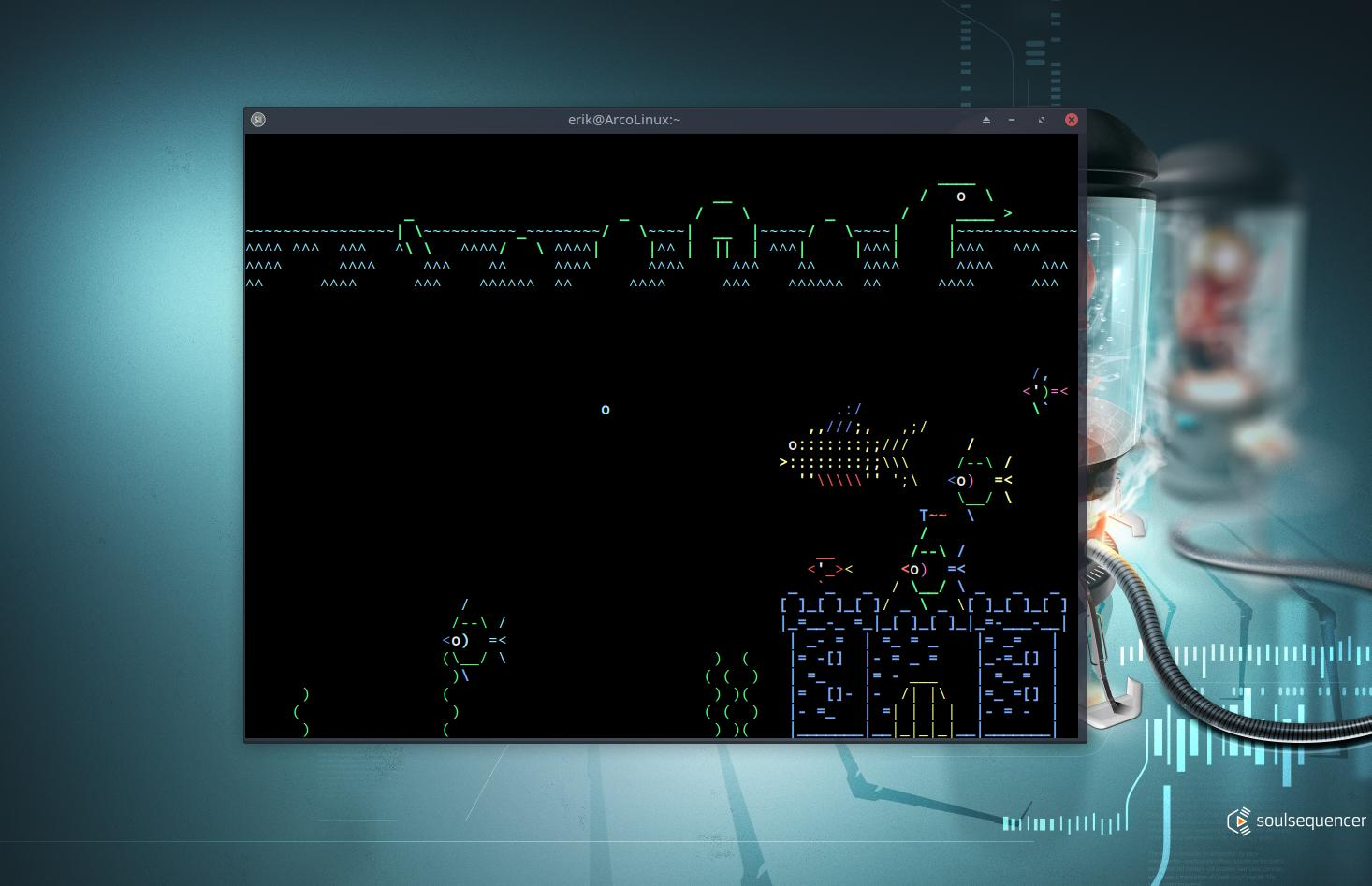 installing fun stuff for the terminal on ArcoLinux