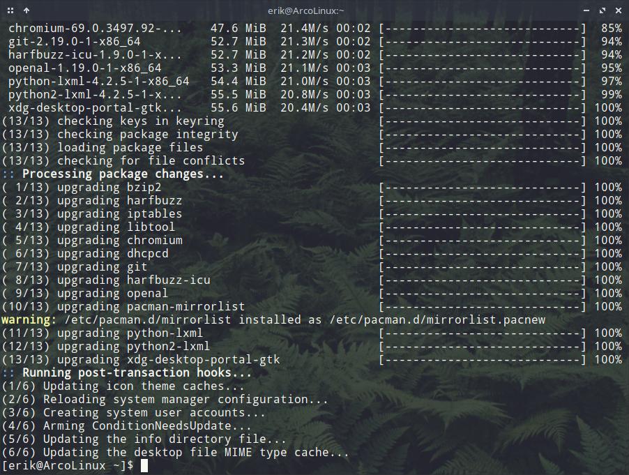 Pacman needs an up-to-date mirrorlist – any desktop