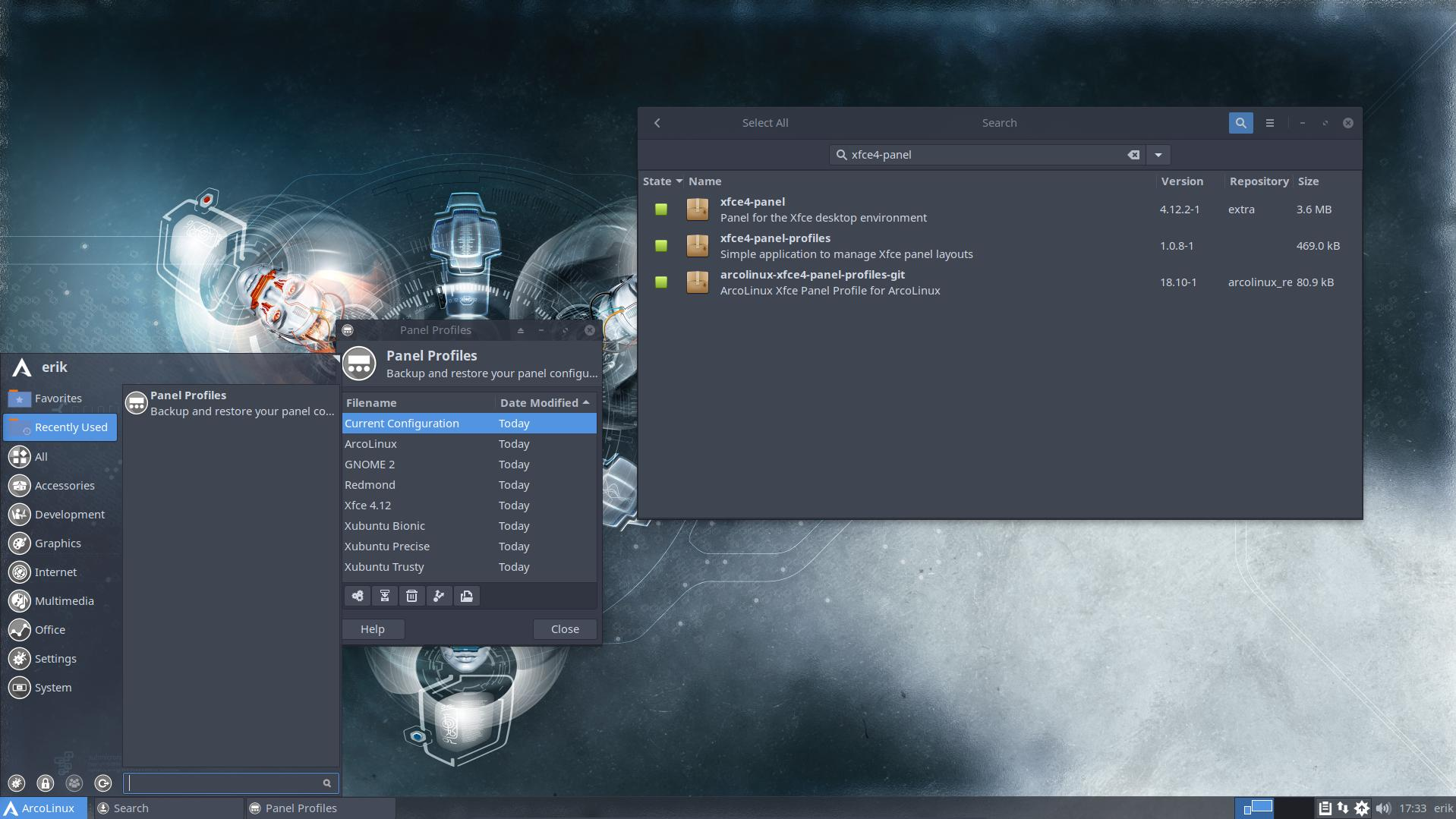 Changing the panels of xfce the easy way | Arcolinux com