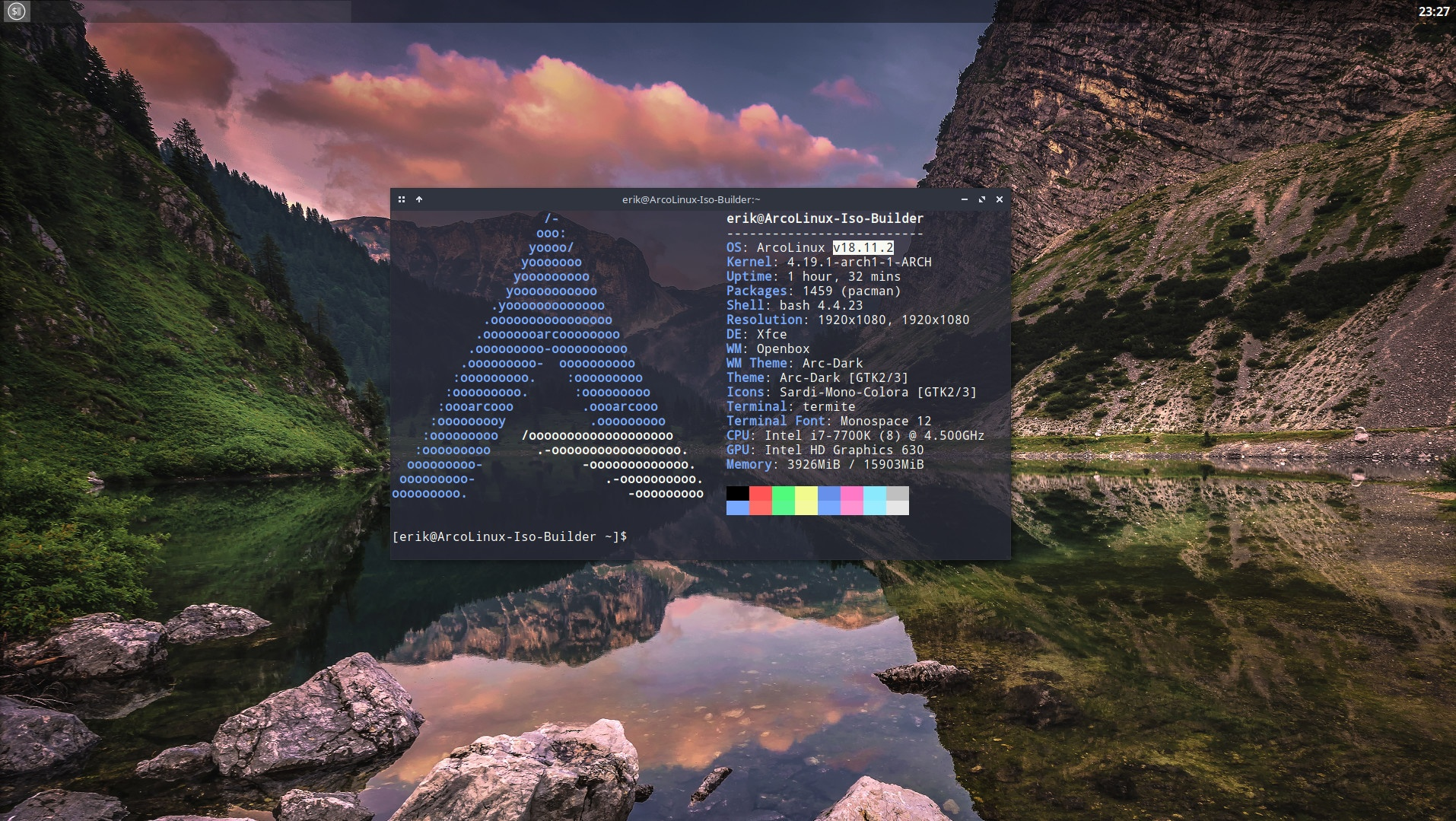 How to change the version number of ArcoLinux