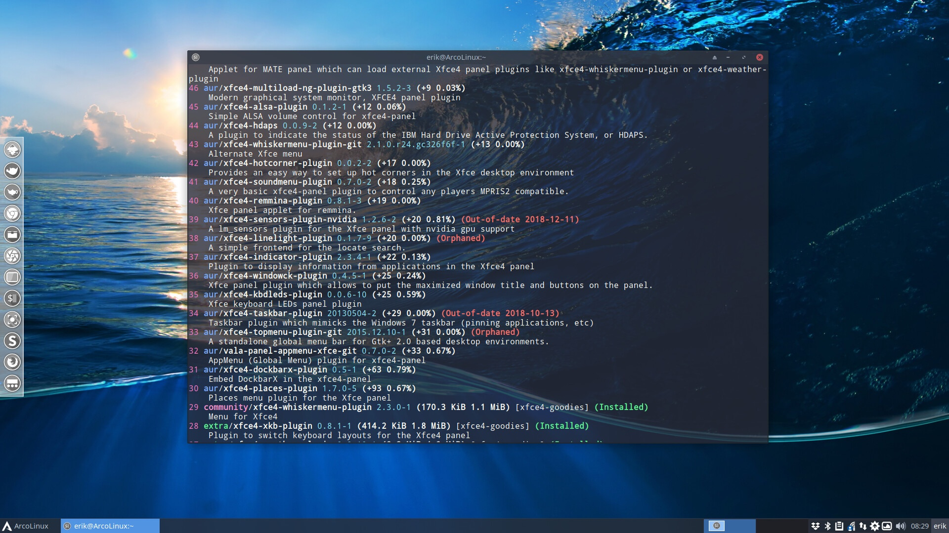 How to add even more plugins to Xfce4
