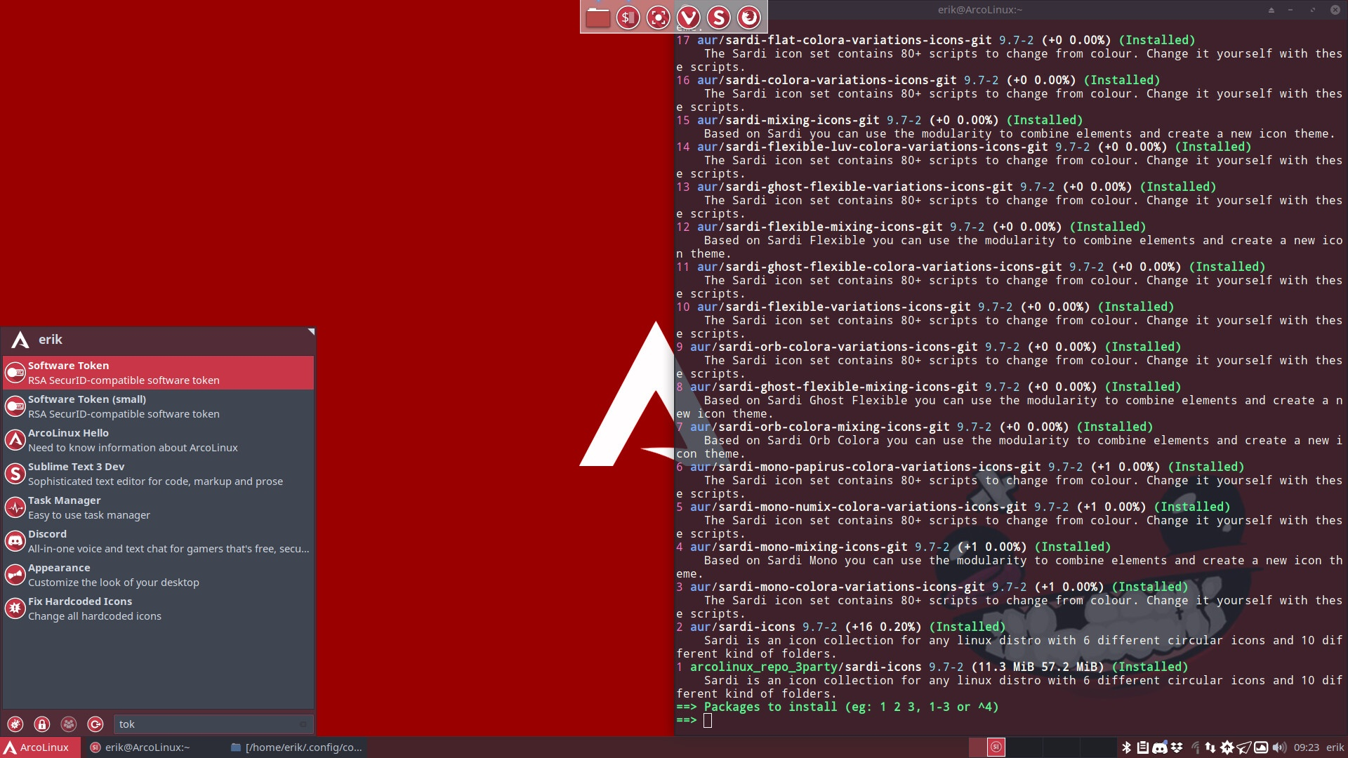 Theming ArcoLinux when a red wallpaper comes in | Arcolinux com