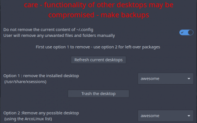 Everything you need to know about the ArcoLinux Desktop Trasher
